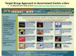 target group approach to government centric e gov