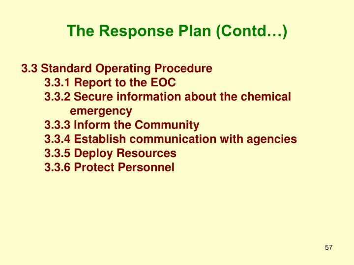 The Response Plan (Contd…)