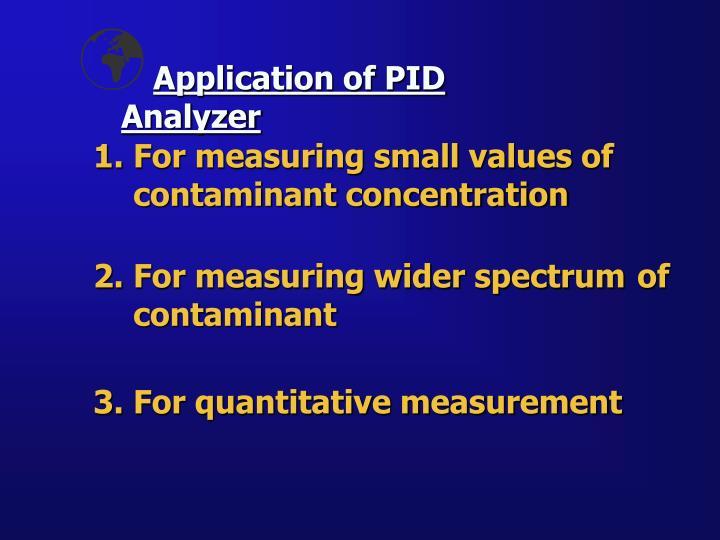 Application of PID Analyzer