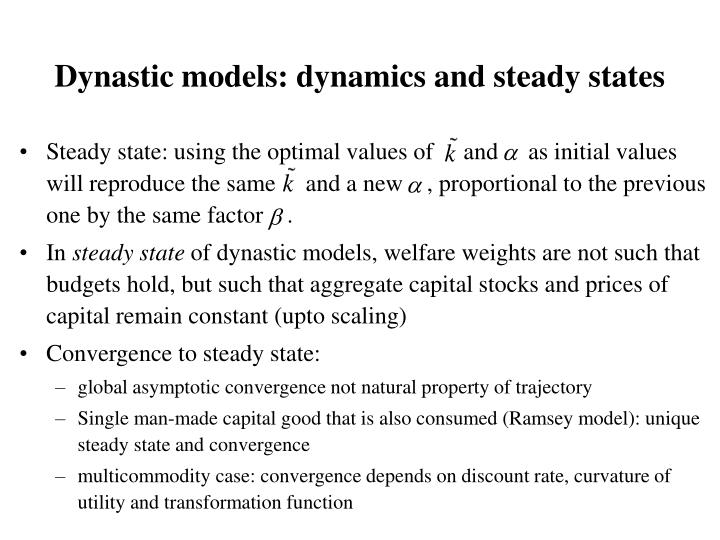 Dynastic models: dynamics and steady states