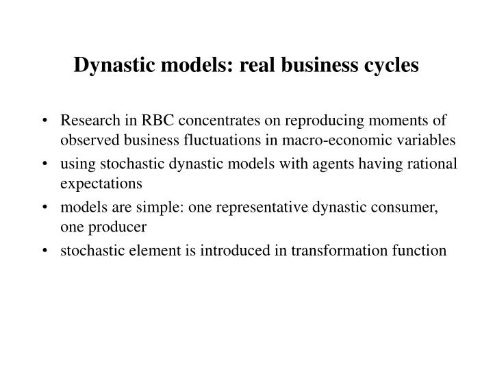 Dynastic models: real business cycles