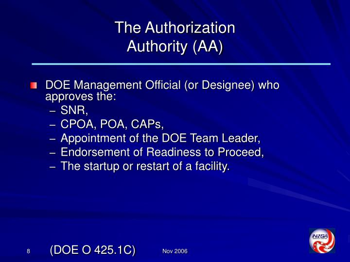 The Authorization