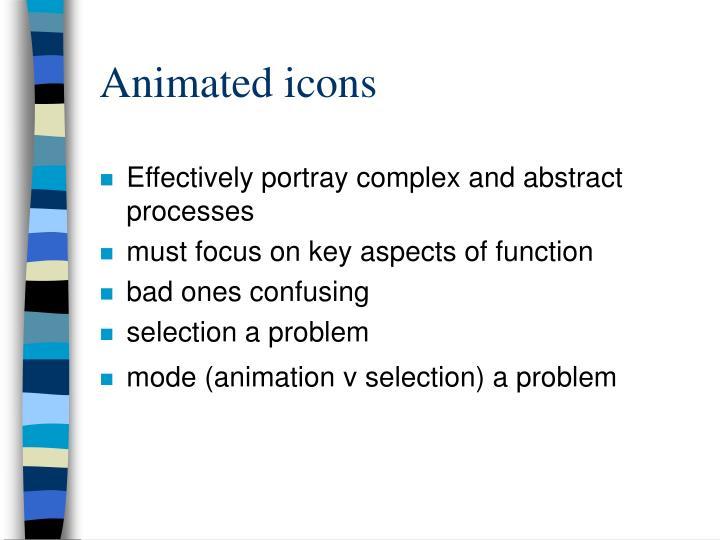 Animated icons