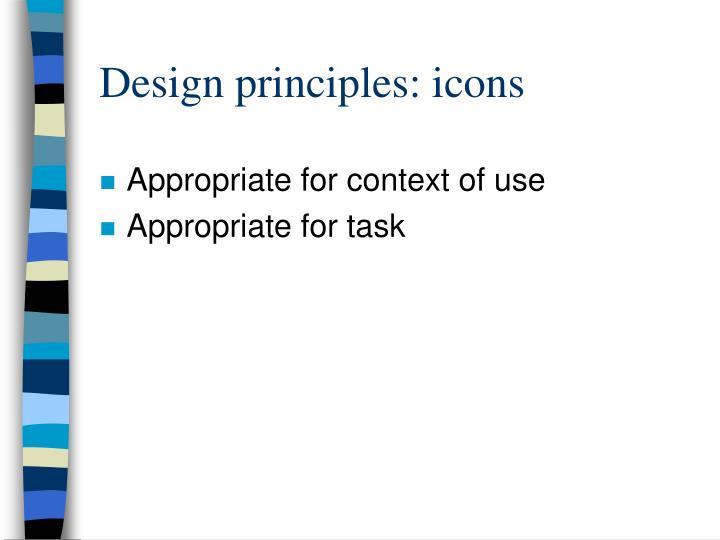 Design principles: icons