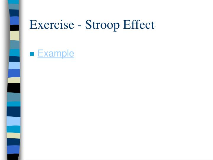 Exercise - Stroop Effect