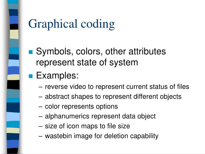 Graphical coding