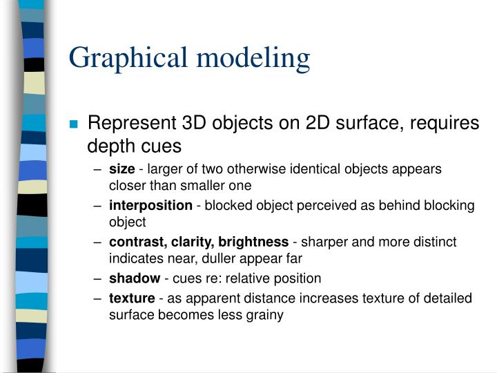 Graphical modeling