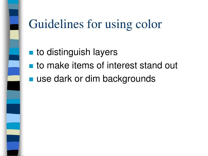 Guidelines for using color