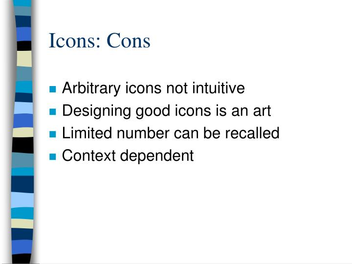 Icons: Cons