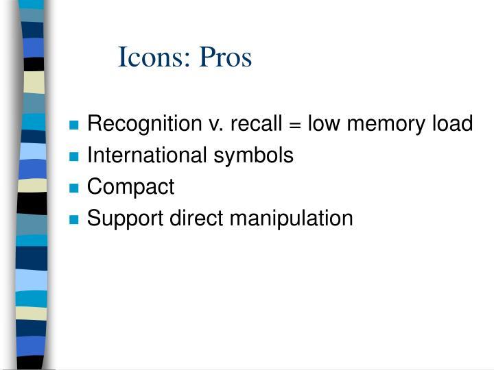 Icons: Pros