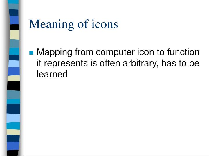 Meaning of icons