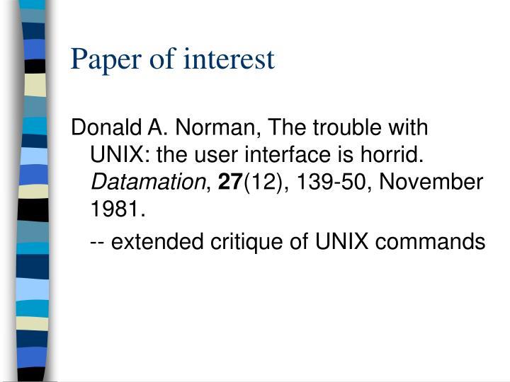 Paper of interest