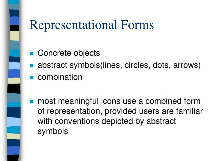 Representational Forms