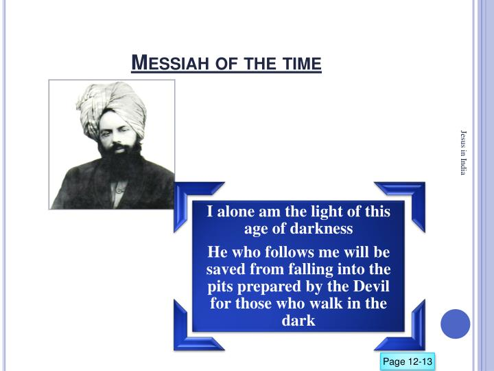 Messiah of the time