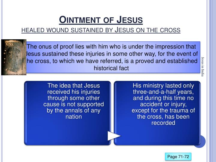 Ointment of Jesus