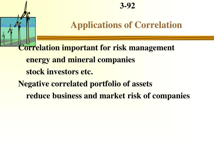 Applications of Correlation