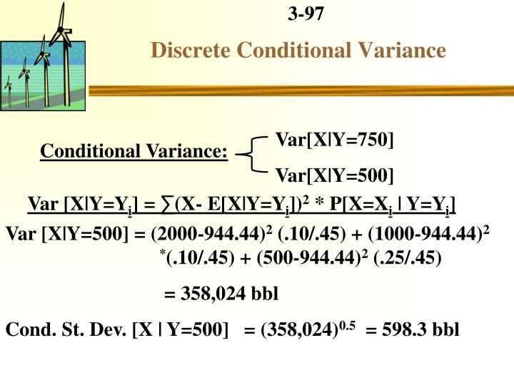 Discrete Conditional Variance