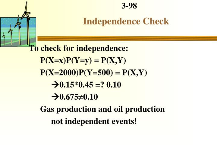 Independence Check