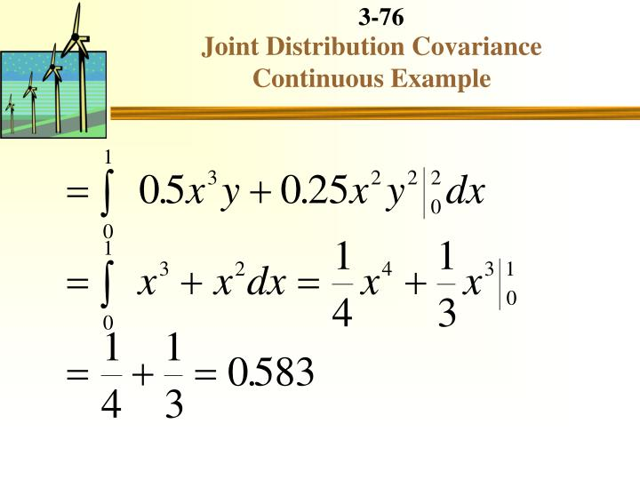 Joint Distribution Covariance