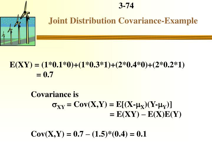 Joint Distribution Covariance-Example