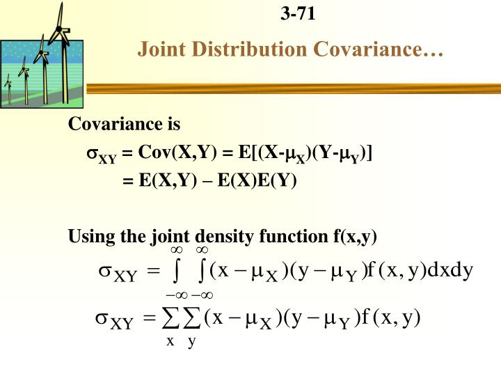 Joint Distribution Covariance…