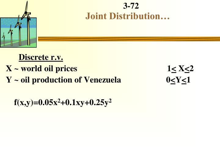 Joint Distribution…