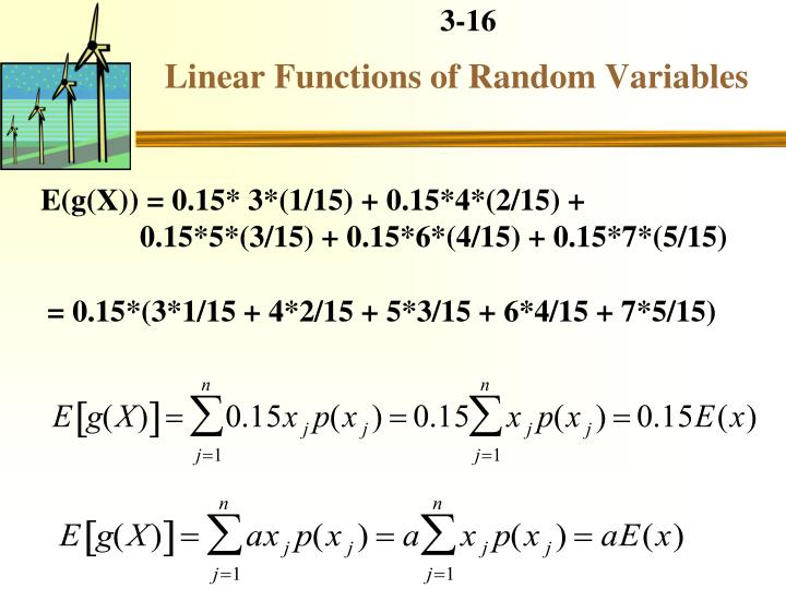 Linear Functions of Random Variables