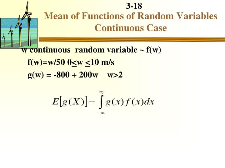 Mean of Functions of Random Variables