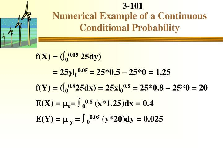 Numerical Example of a Continuous