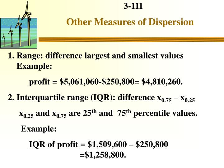 Other Measures of Dispersion