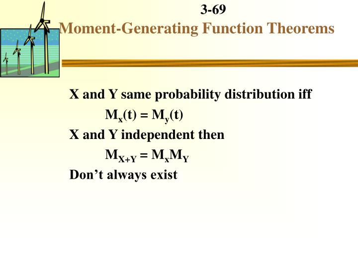 Moment-Generating Function Theorems