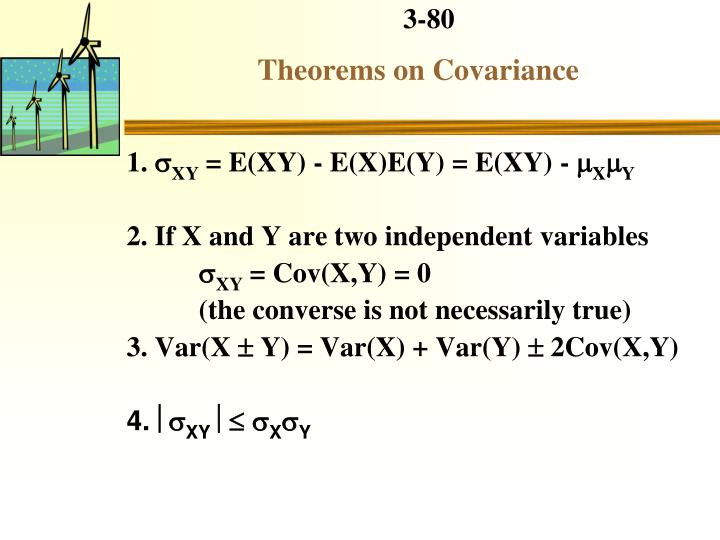 Theorems on Covariance