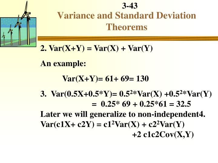 Variance and Standard Deviation Theorems