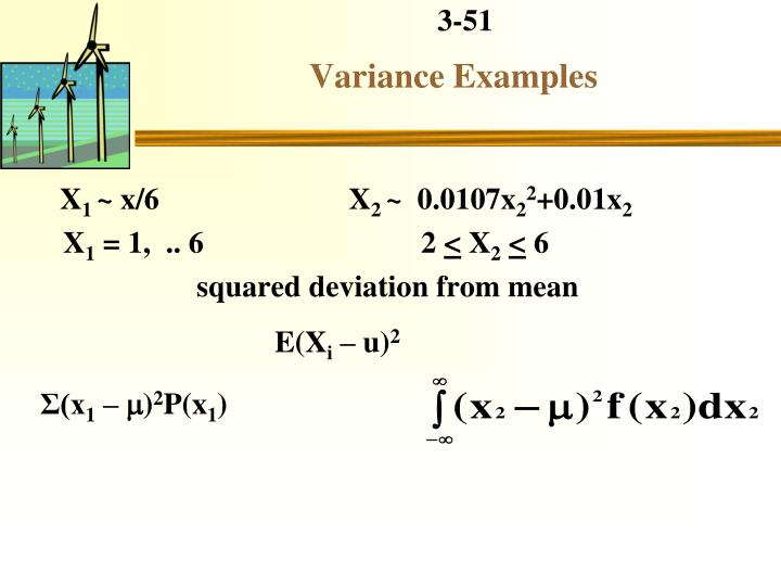 Variance Examples