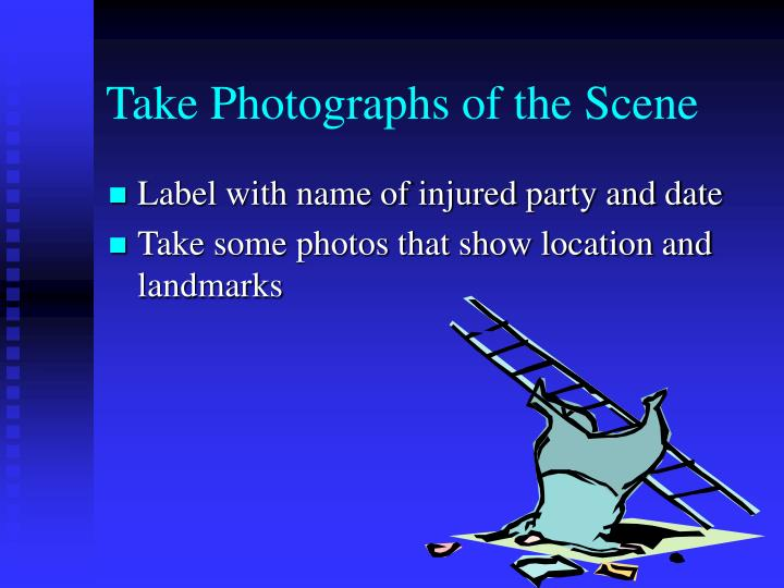 Take Photographs of the Scene