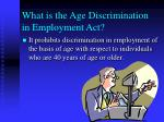 what is the age discrimination in employment act