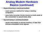 analog modem hardware basics continued5