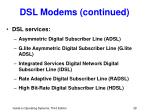 dsl modems continued3