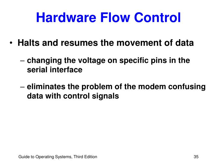 Hardware Flow Control