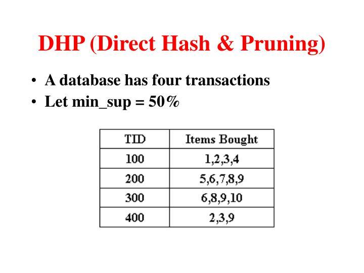 DHP (Direct Hash & Pruning)
