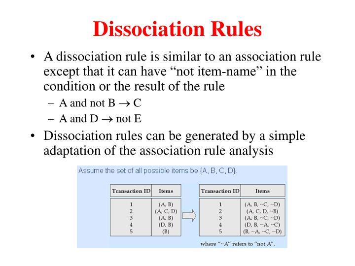 Dissociation Rules
