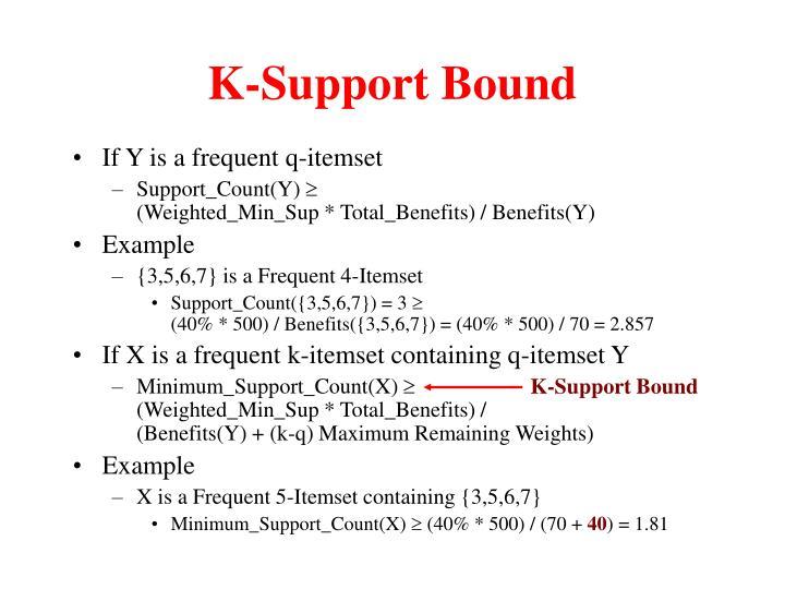 K-Support Bound