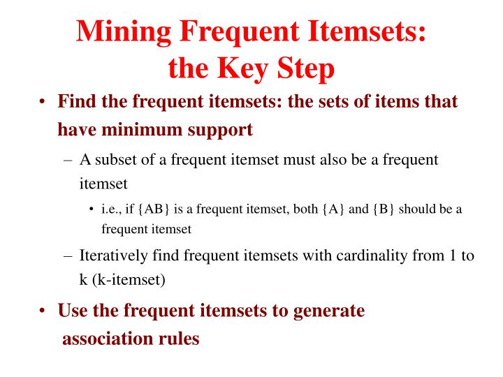 Mining Frequent Itemsets: