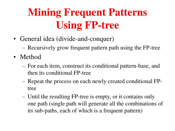 Mining Frequent Patterns