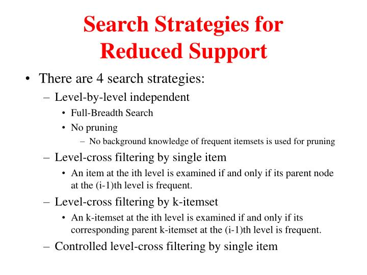 Search Strategies for