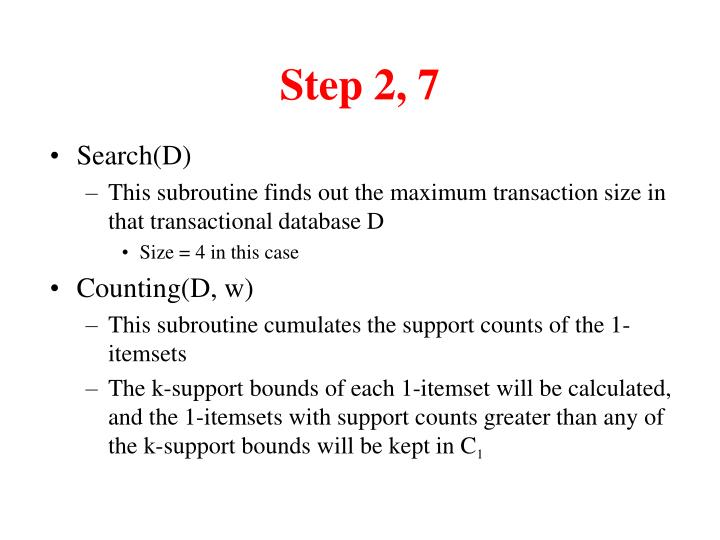Step 2, 7