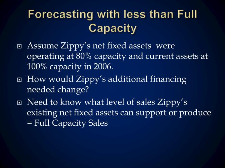 Forecasting with less than Full Capacity