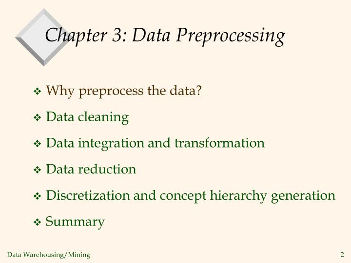 Chapter 3 data preprocessing