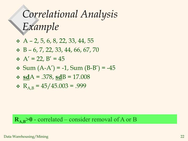 Correlational Analysis Example