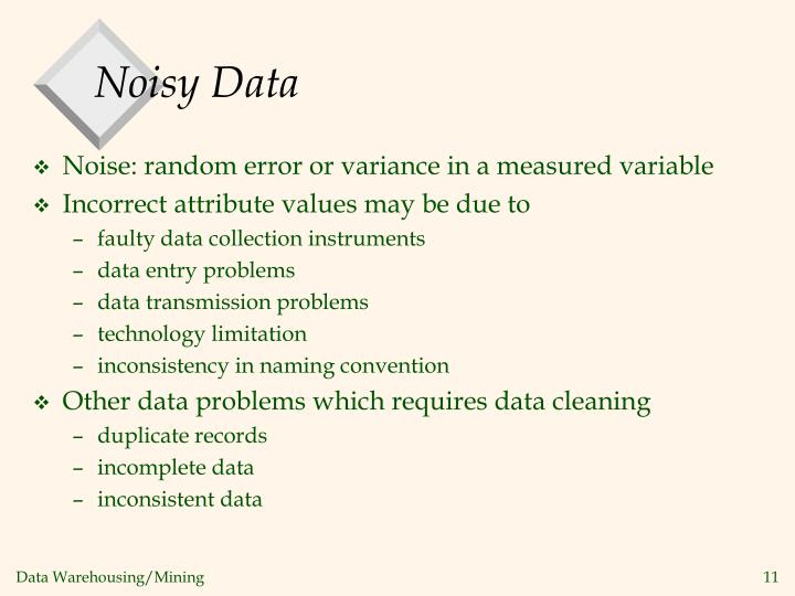 Noisy Data